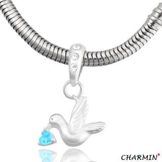 【E&I】CHARMIN 時尚創意手鍊森林自然風-青鳥 925純銀造型串珠
