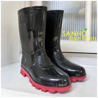 【Sanho】典雅式長雨靴(帥氣黑)