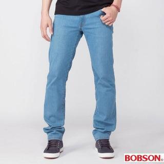 【BOBSON】男款保暖低腰膠原蛋白直筒褲(藍52)