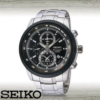 【SEIKO 精工】完美的錶盤設計賽車錶(SNAB51P1)