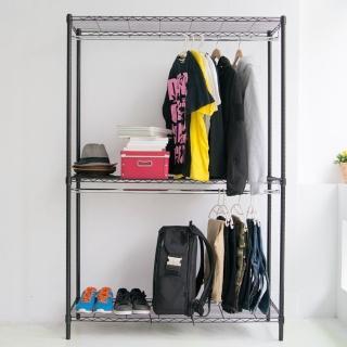 【樂活主義】鐵力士120X45X180雙桿吊掛衣櫥/置物架(3色任選)