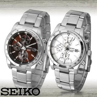 【SEIKO 精工】時尚三眼賽車計時腕錶(SNDD03P1-SNDD05P1)