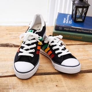 【中國強】MIT 百搭休閒帆布鞋CH83(黑彩)