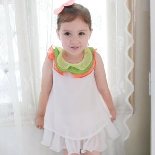 【baby童衣】洋裝 簡約無袖荷葉領連身裙 42194