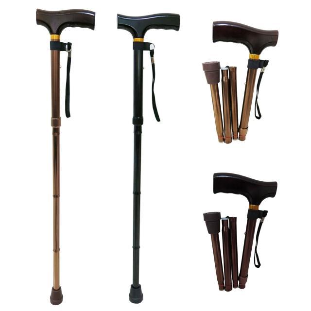 【舞動創意】仲群momo 優惠券維醫療用手杖-未滅菌-鋁合金折疊式五段調整手杖(GT20061)