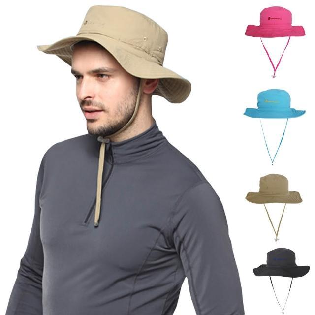 【好物分享】MOMO購物網【PUSH! 戶外登山休閒用品】透氣快乾UPF50+遮陽帽沙灘帽子漁夫帽(男女適用)哪裡買富邦mo mo