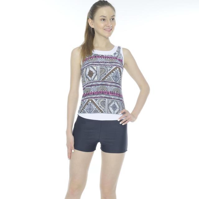 【網購】MOMO購物網【Bich Loan】雅格二件式泳裝附泳帽(加贈旅遊組*1組13007202)評價momo 折價