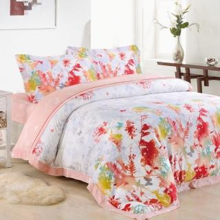 【Betrise花意醉人】頂級雙人100%奧地利天絲TENCEL八件式兩用被床罩組