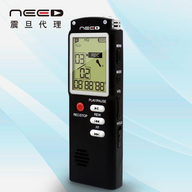【NEED尼富邦momo電視購物台電話德】8GB學習型數位錄音筆(AX-710-BK)