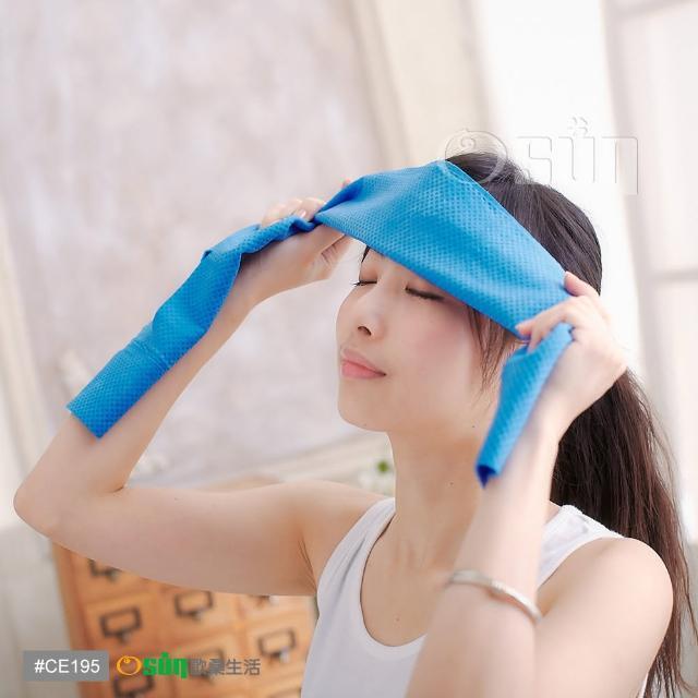 【私心大推】MOMO購物網【Osun】防曬降溫消暑日韓流行冰涼巾PVA 4入(藍/粉紅)評價如何momo購物評價