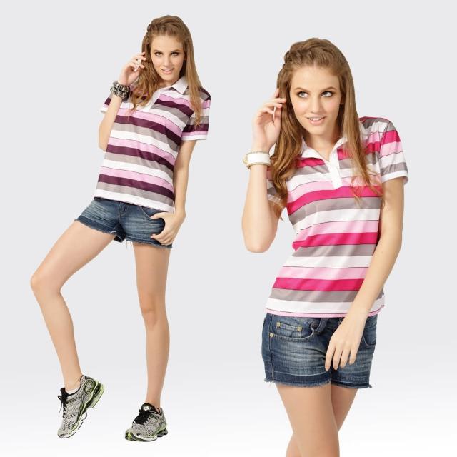 【好物分享】MOMO購物網【SAMLIX 山力士】女款 MIT 台灣製 吸濕排汗 陶瓷紗 羅紋領 短袖  POLO衫#SP201(粉紅.紫色)效果好嗎momo折價券500