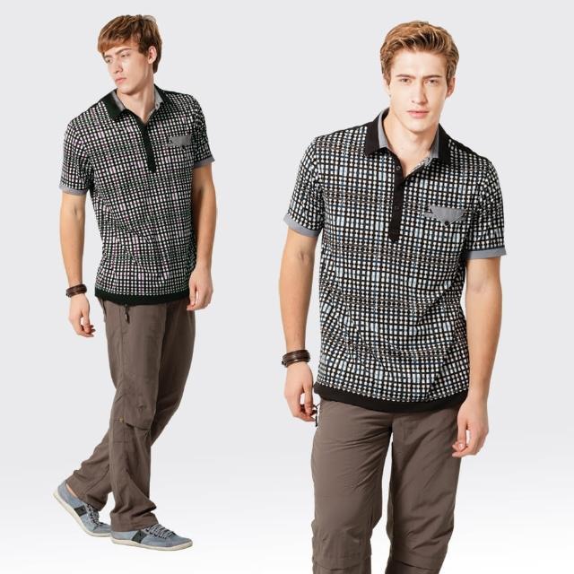 【SAMLIX 山力士】男款 MIT 台灣製  吸濕排汗 彈性  羅紋領 短袖  POLOmomo購物2台衫#SP101(水藍.酒紅)