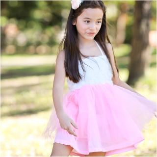 【baby童衣】洋裝 細肩綁帶造型花朵紗紗裙 42152