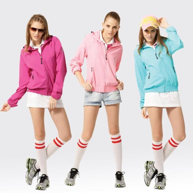 【網購】MOMO購物網【SAMLIX 山力士】女 抗UV 輕薄 休閒 風衣 外套#WJ621(紫色.藍色.粉紅)評價如何momo網站