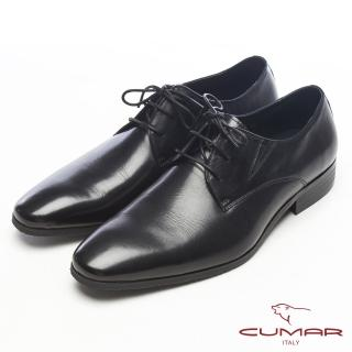 【CUMAR】自信品味-簡約造型真皮紳士鞋(黑)