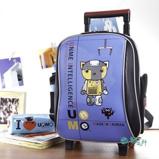 【UnMe】機器人高年級拉桿後背兩用書包(鏡寶藍色