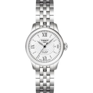 【TISSOT】Le Locle 力洛克系列 圖騰紋機械女錶-白(T41118333)