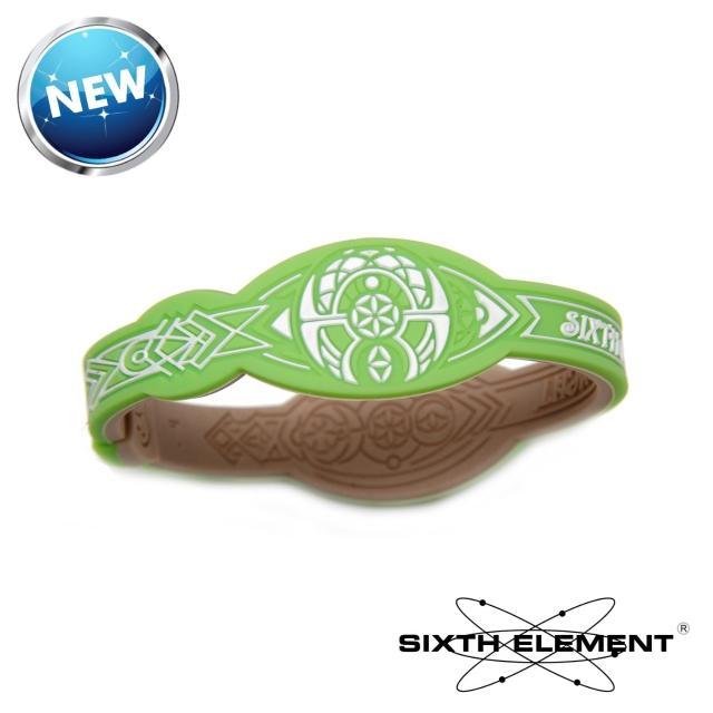 【第六元素】IEB負離子高能量手環(5momo購物手機38 和平綠)