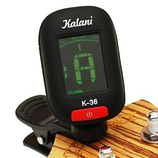 【拓弦音樂】Kalani 烏克麗麗/吉他 5合1雙色冷光調音器/黑色+加贈 3PICK(K36黑+3P)