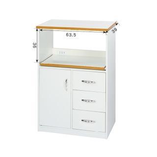 【顛覆設計】潮濕剋星-防水塑鋼2.2尺餐櫃/電器櫃-寬68深42高112cm