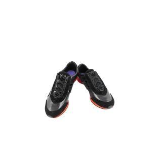 【Y-3山本耀司】真皮三線造型運動休閒鞋-黑色(女款US 8.5號)