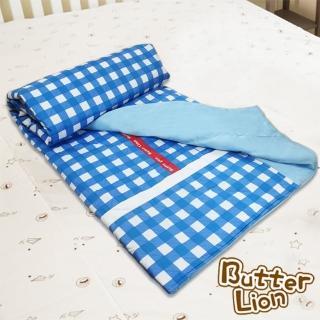 【奶油獅】格紋系列-台灣製造-100%精梳純棉雙面薄被套(雙人 三色可選)