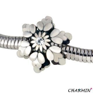【E&I】CHARMIN 時尚創意手鍊雪花925純銀造型串珠