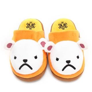 【童鞋城堡】航海王培波熊造型絨毛保暖室內拖(OP2275)