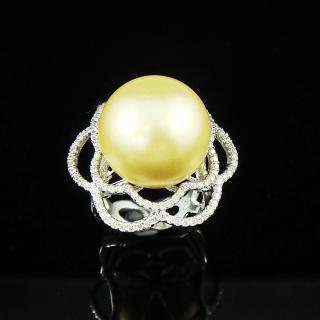 【蕾帝兒名品】銘記金色貝珠戒指