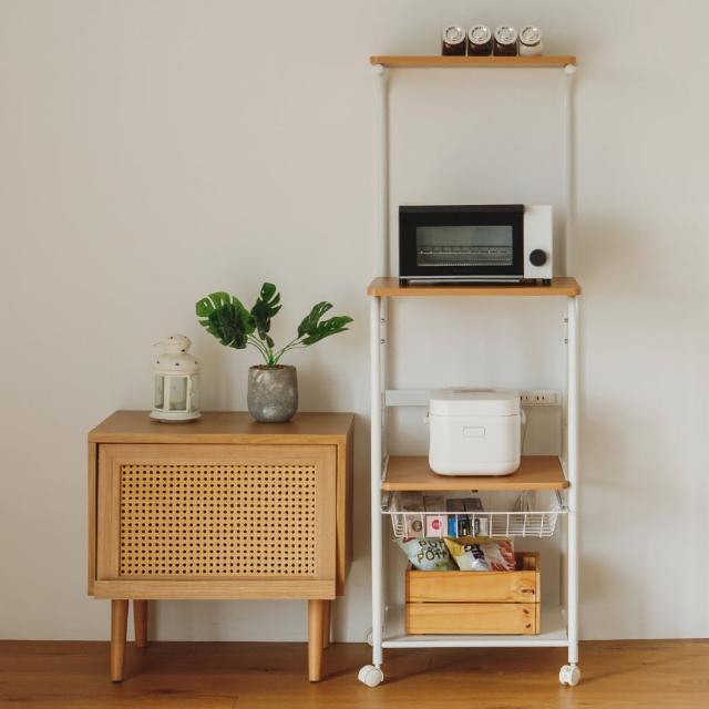 【樂活主義】移動momo退貨時間式廚房四層置物架/收納櫃/電器架