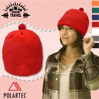 【SNOW TRAVEL】POLARTEC 輕量透氣刷毛保暖帽.輕便防風帽.遮耳帽(AR-13 櫻桃紅)