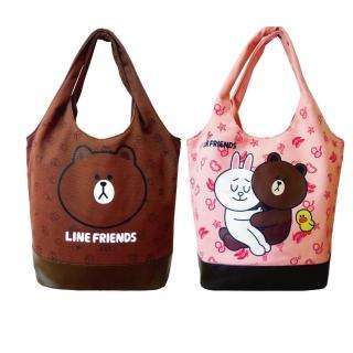 【LINE FRIENDS】MIT俏麗背袋(草莓粉情侶/咖啡熊大)
