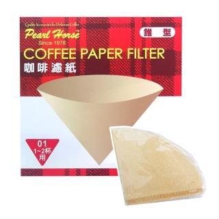 【寶馬牌】椎型咖啡濾紙-1-2杯用-40枚入×6盒