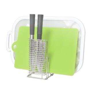 【日本LEC】兩用式不鏽鋼砧板刀具架