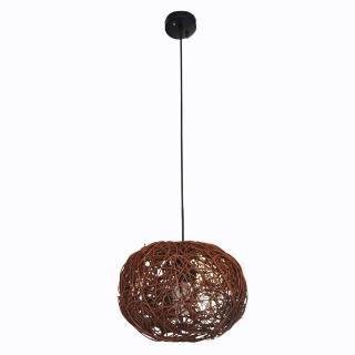 【華燈市】咖啡編籐吊燈(自然竹籐風)