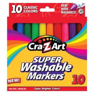 【美國Cra-Z-Art】10色超級可水洗彩色筆(經典款)