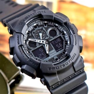 【CASIO 卡西歐】G-SHOCK 狂野粗曠潮流概念錶(GA-100-1A1DR)