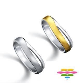 【彩糖鑽工坊】愛情心語系列 14K金戒指(雙色款CL-RF19)