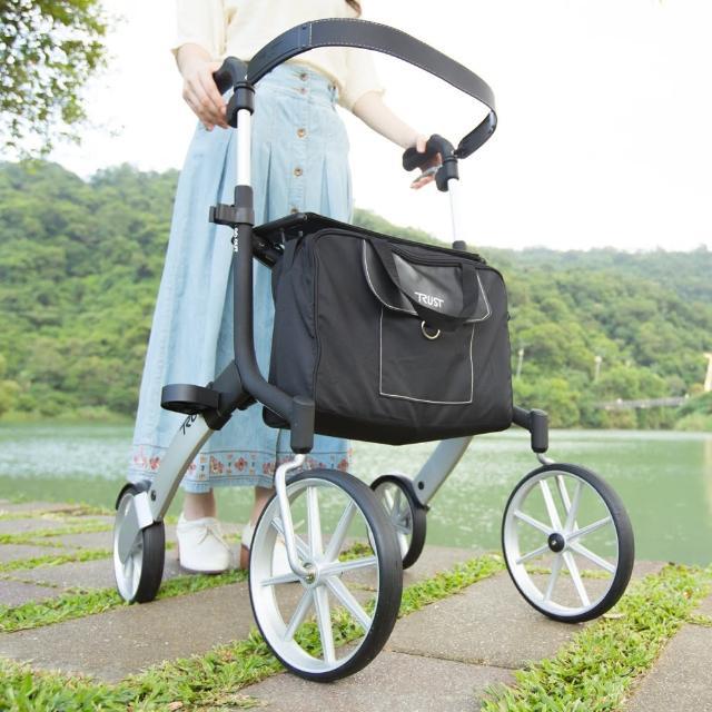 momo 富邦购物网【樂活動】瑞典Trust Care 戶外助行散步推車(含推車專用安全背帶、拐杖架、安全背帶)