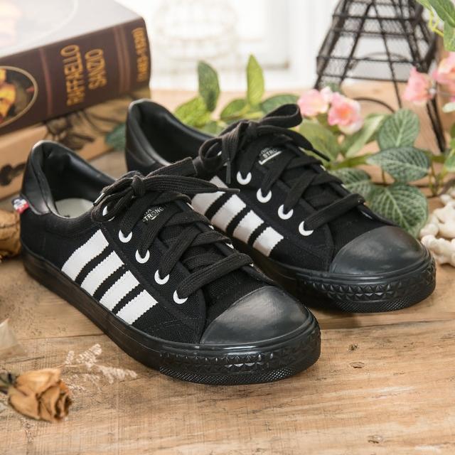【中國強】中國強 MIT 經典休閒帆布momo商品鞋CH89(黑白)
