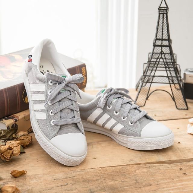 【部落客推薦】MOMO購物網【中國強】MIT 百搭休閒帆布鞋CH83(灰白)好用嗎momo購物2台