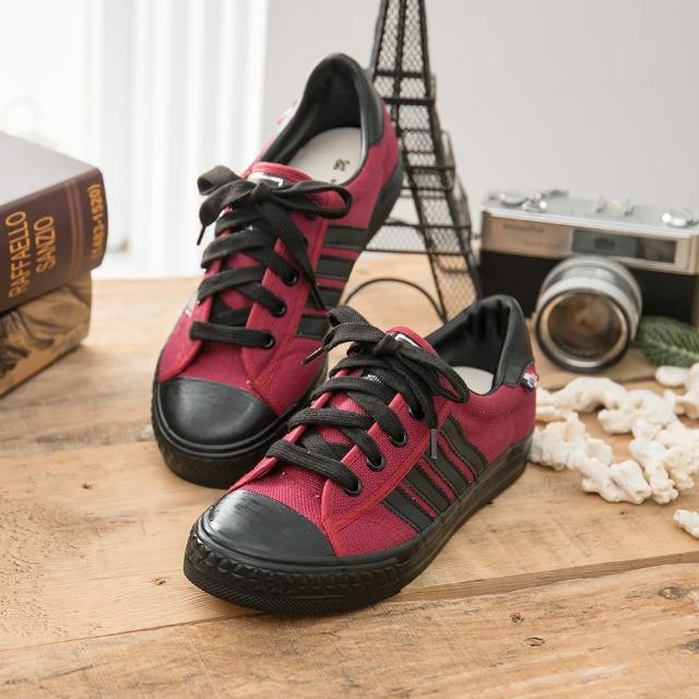 【私心大推】MOMO購物網【中國強】中國強 MIT 經典休閒帆布鞋CH89(紅黑)效果如何momo台購物