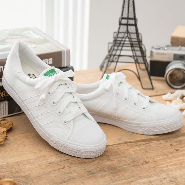 【好物分享】MOMO購物網【中國強】MIT 經典休閒帆布鞋CH81(白)效果富邦momo旅遊網