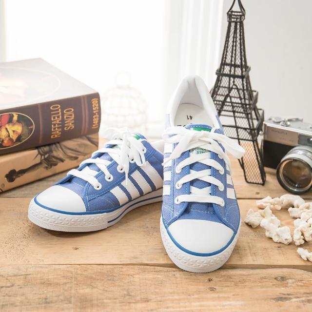 【真心勸敗】MOMO購物網【中國強】MIT 經典休閒帆布鞋CH81(藍)效果富邦旅遊網