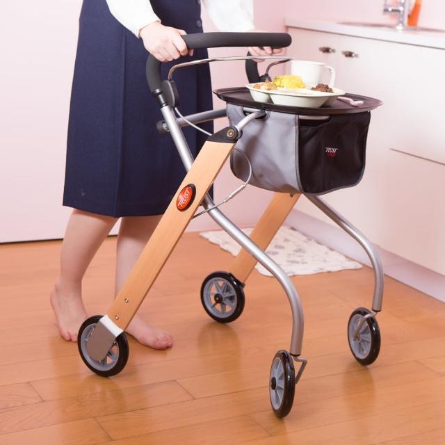 【樂活動】瑞典Trust Care居家富邦momo客服防跌助行餐車(室內專用助行推車)