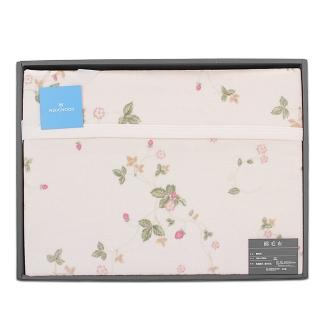 【WEDGWOOD】經典野草苺系列純棉蓋毯禮盒(粉紅)