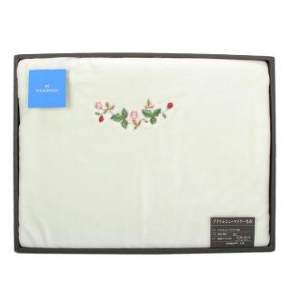 【WEDGWOOD】經典野草苺系列雪綿蓋毯禮盒(粉綠)