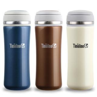 【Timolino】珍珠色系TT真空隨身杯-附茶網(350cc)