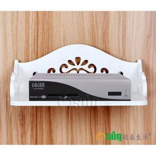 【Osun】DIY木塑板 歐式白色雕花電話掛架(CE-178-電話掛架)