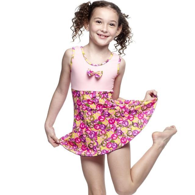 【勸敗】MOMO購物網【SARBIS】MIT女童連身裙泳裝(附泳帽B88407)開箱momo東森購物